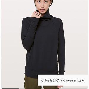 Lululemon High Lines Size 4 Black pullover NWT
